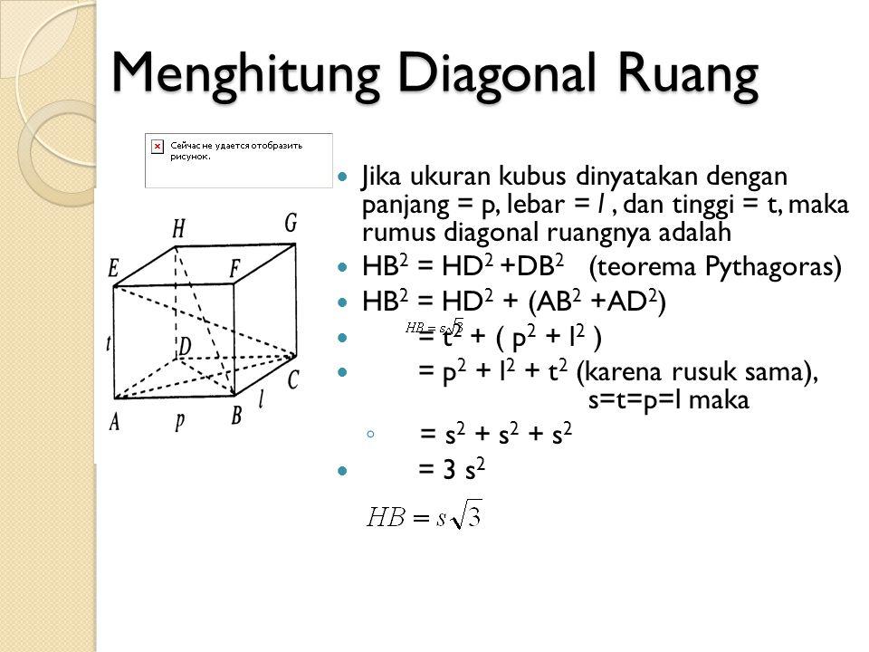 Menghitung Diagonal Ruang