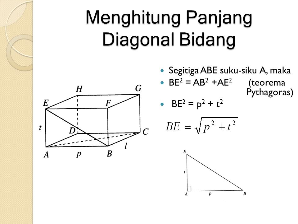 Menghitung Panjang Diagonal Bidang