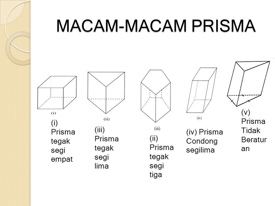 MACAM-MACAM PRISMA (v) Prisma Tidak Beraturan