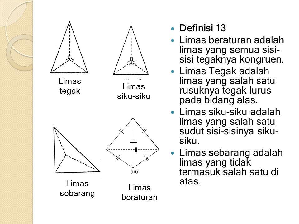Limas beraturan adalah limas yang semua sisi- sisi tegaknya kongruen.