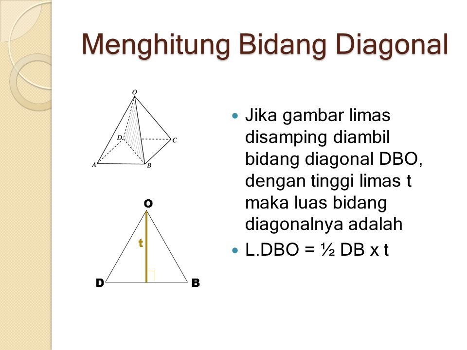 Menghitung Bidang Diagonal