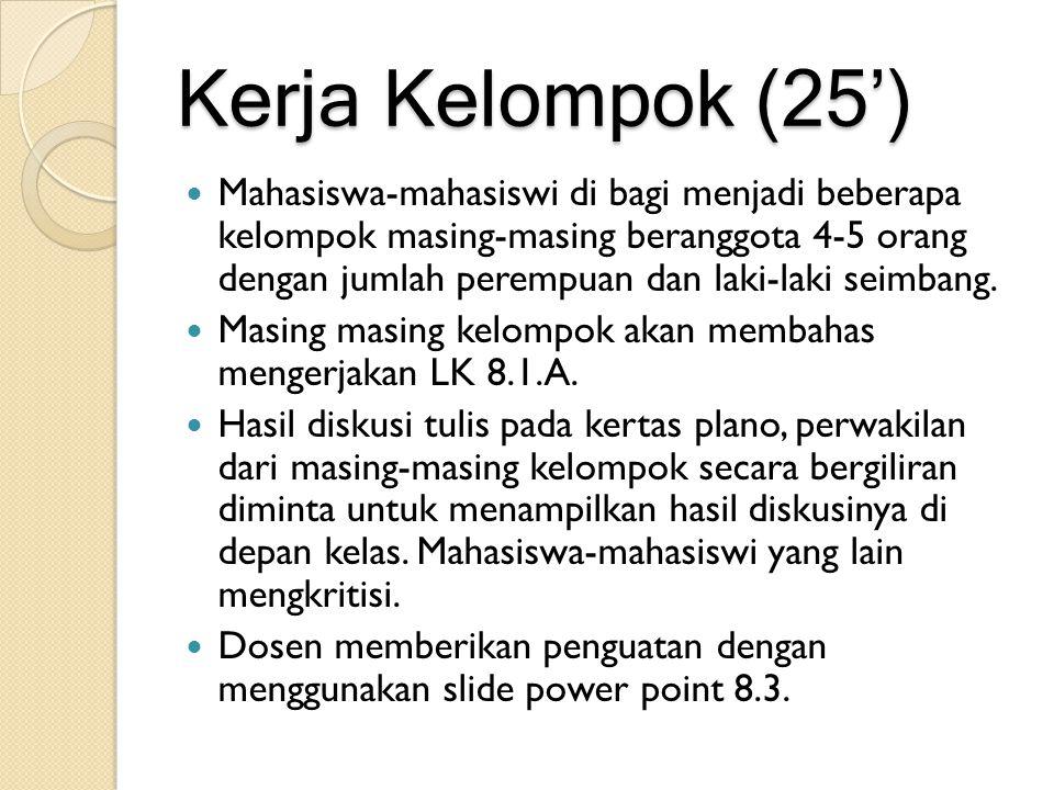 Kerja Kelompok (25')