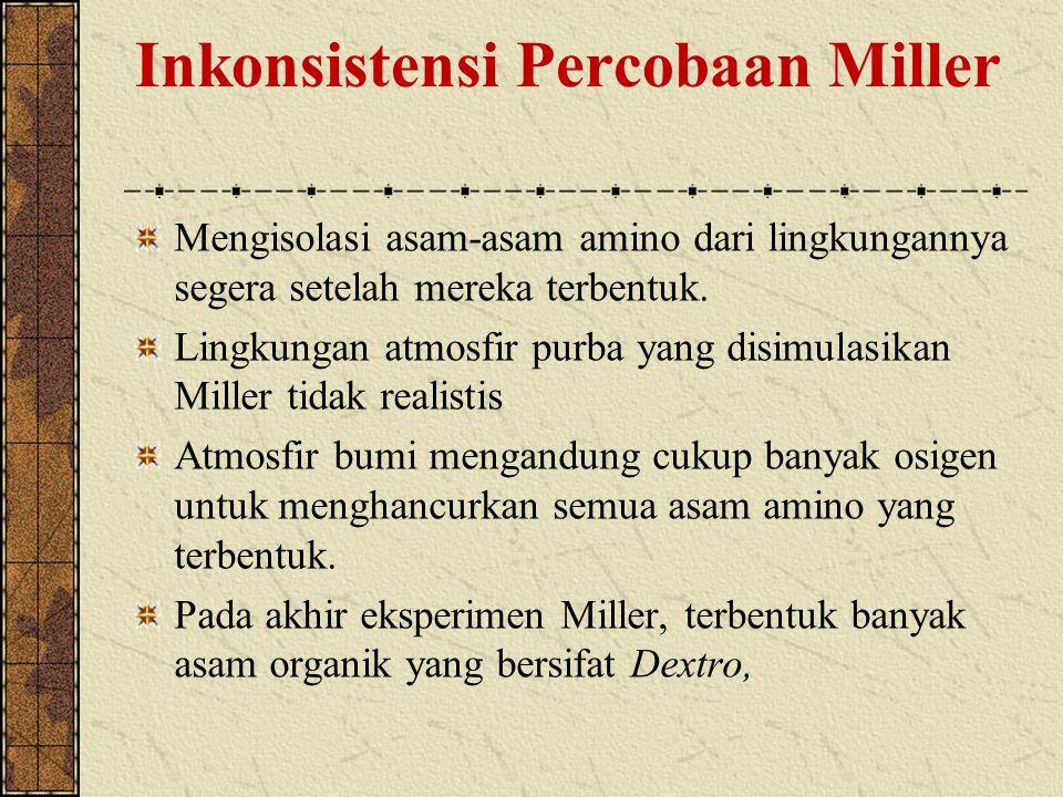 Inkonsistensi Percobaan Miller