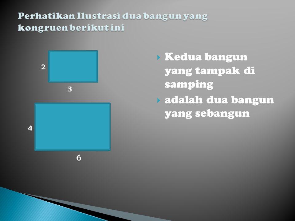 Perhatikan Ilustrasi dua bangun yang kongruen berikut ini