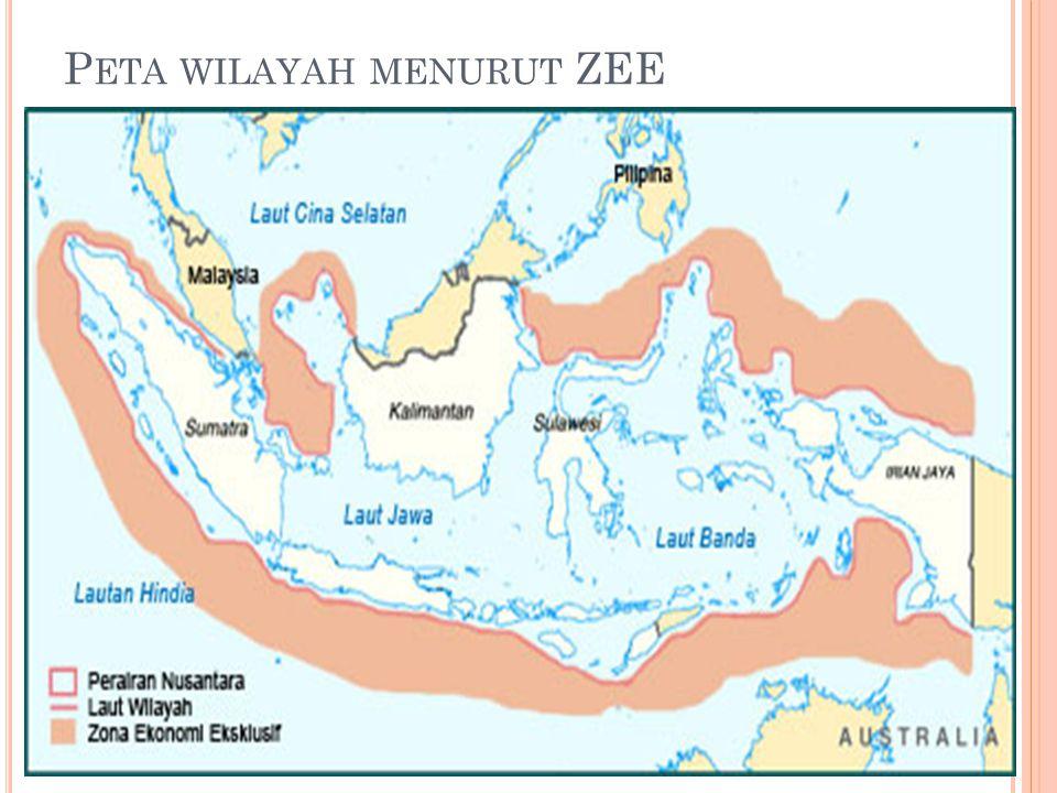 Peta wilayah menurut ZEE