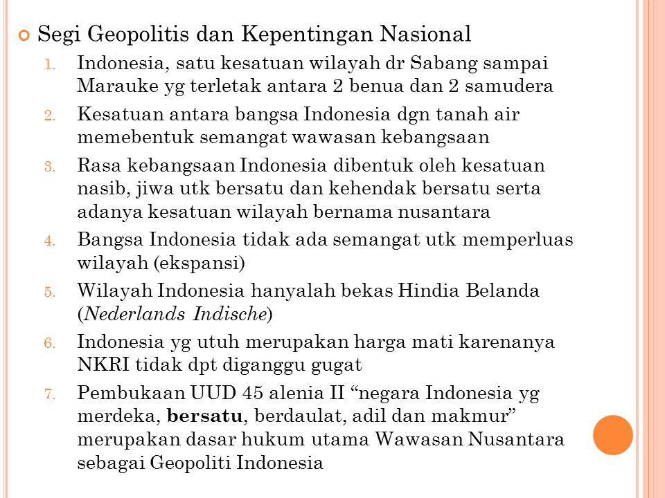Segi Geopolitis dan Kepentingan Nasional