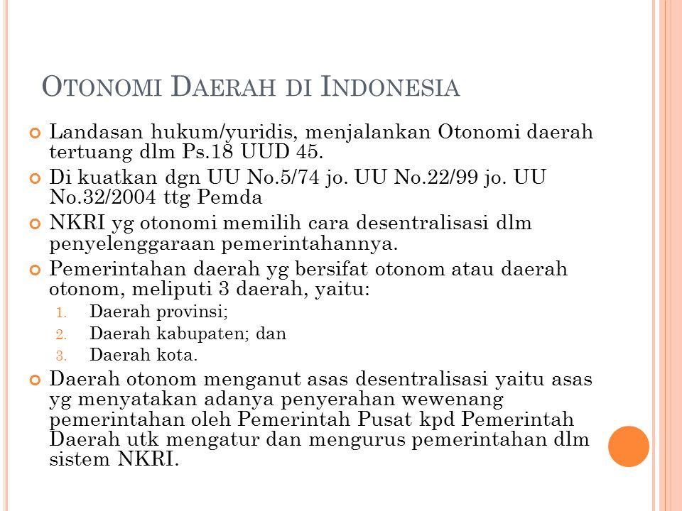 Otonomi Daerah di Indonesia
