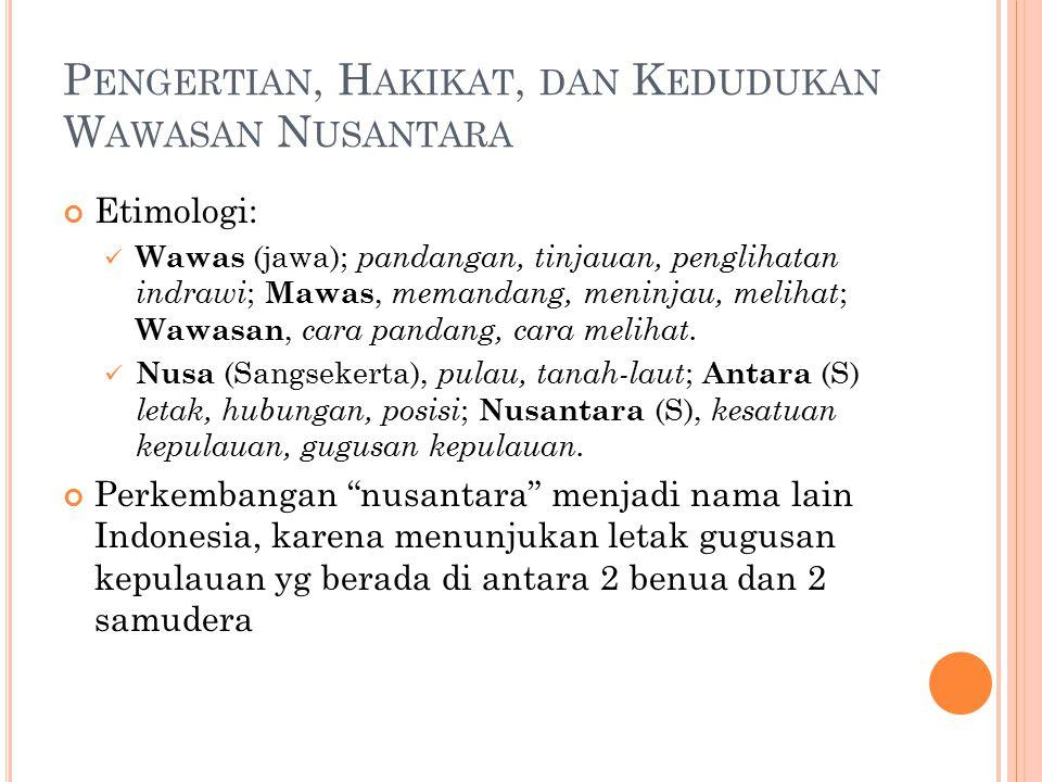 Pengertian, Hakikat, dan Kedudukan Wawasan Nusantara
