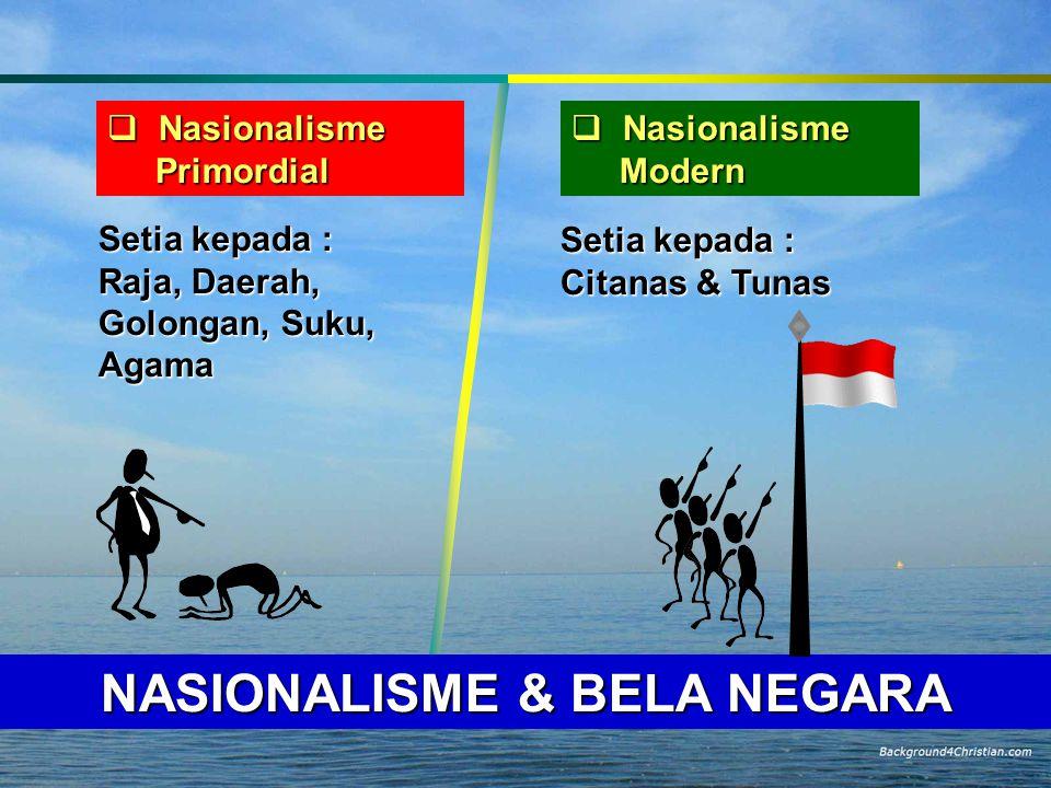 NASIONALISME & BELA NEGARA