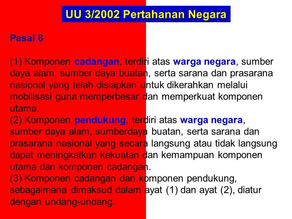 UU 3/2002 Pertahanan Negara Pasal 8