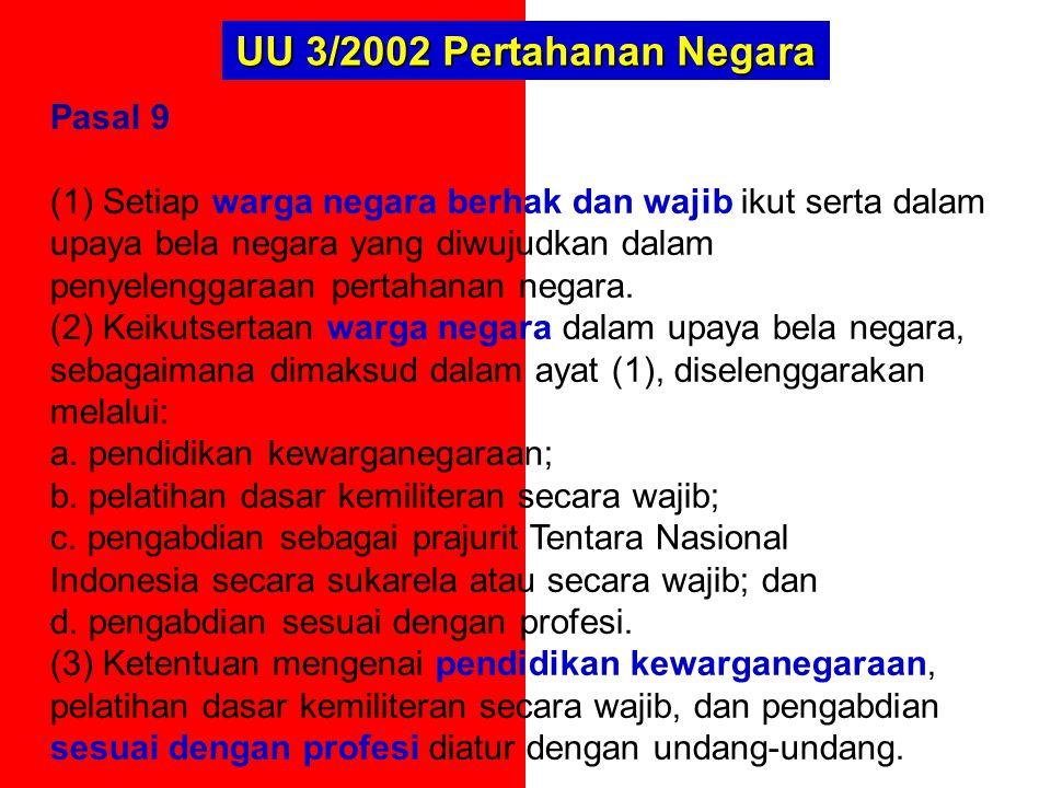 UU 3/2002 Pertahanan Negara Pasal 9