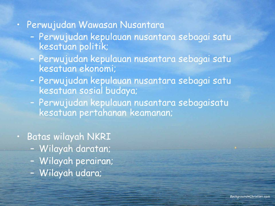 Perwujudan Wawasan Nusantara