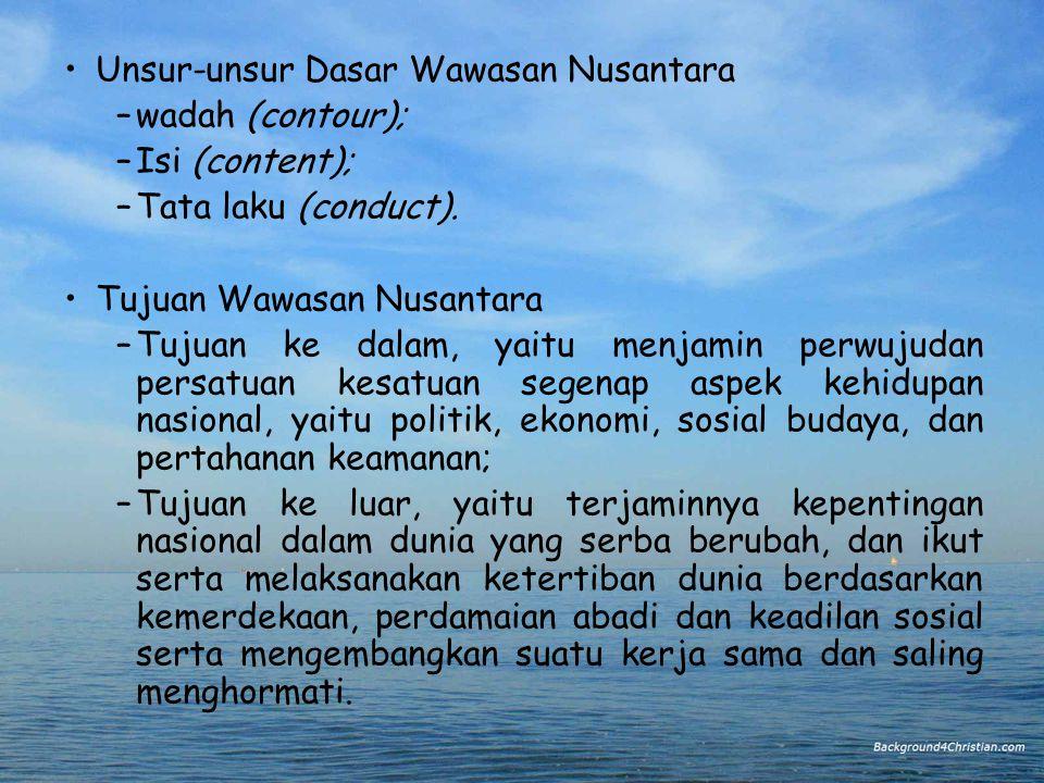Unsur-unsur Dasar Wawasan Nusantara