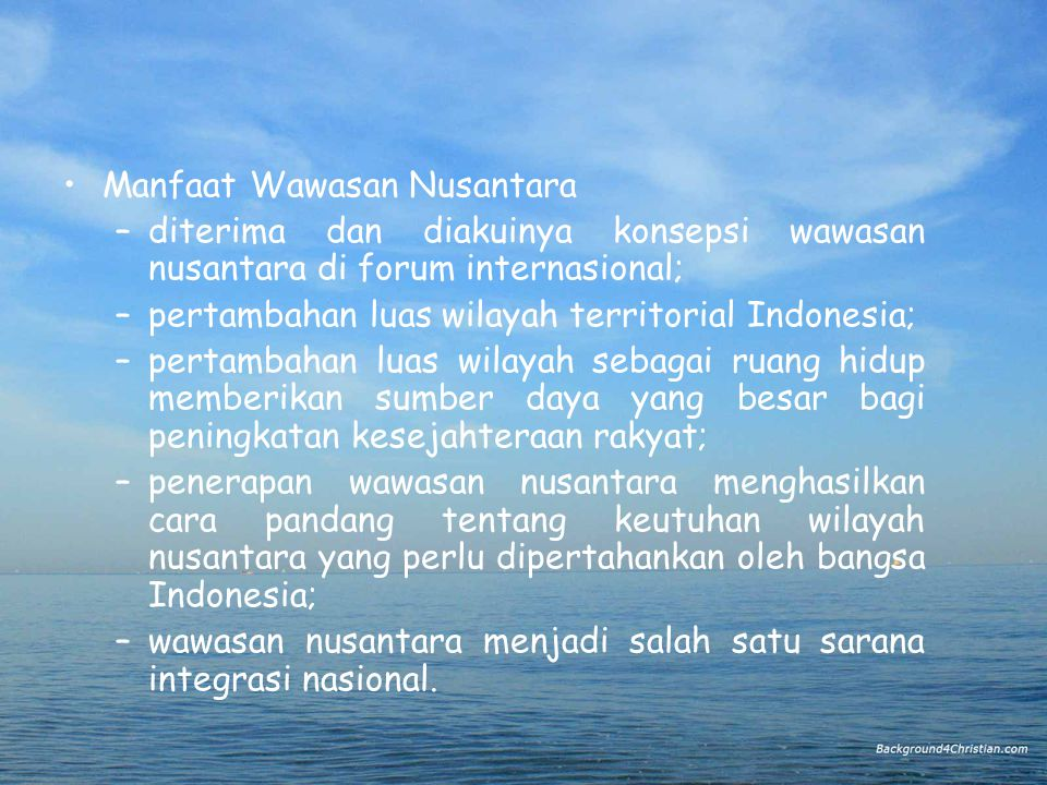 Manfaat Wawasan Nusantara