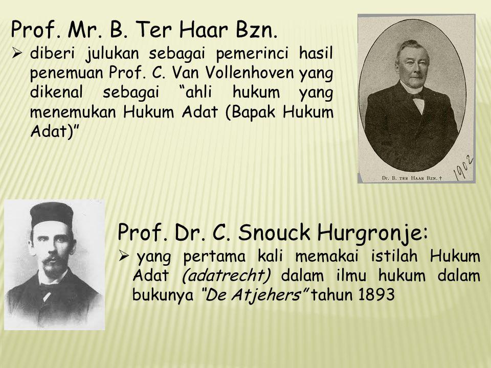Prof. Dr. C. Snouck Hurgronje: