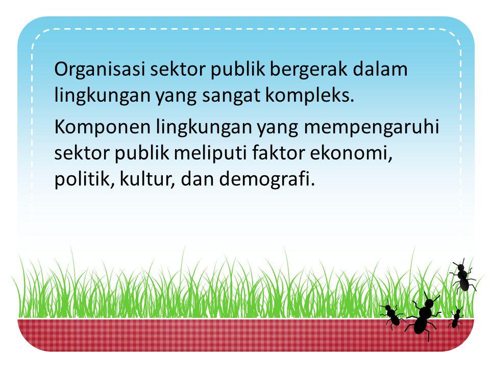 Organisasi sektor publik bergerak dalam lingkungan yang sangat kompleks.