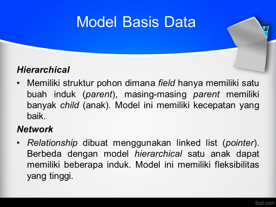 Model Basis Data Hierarchical