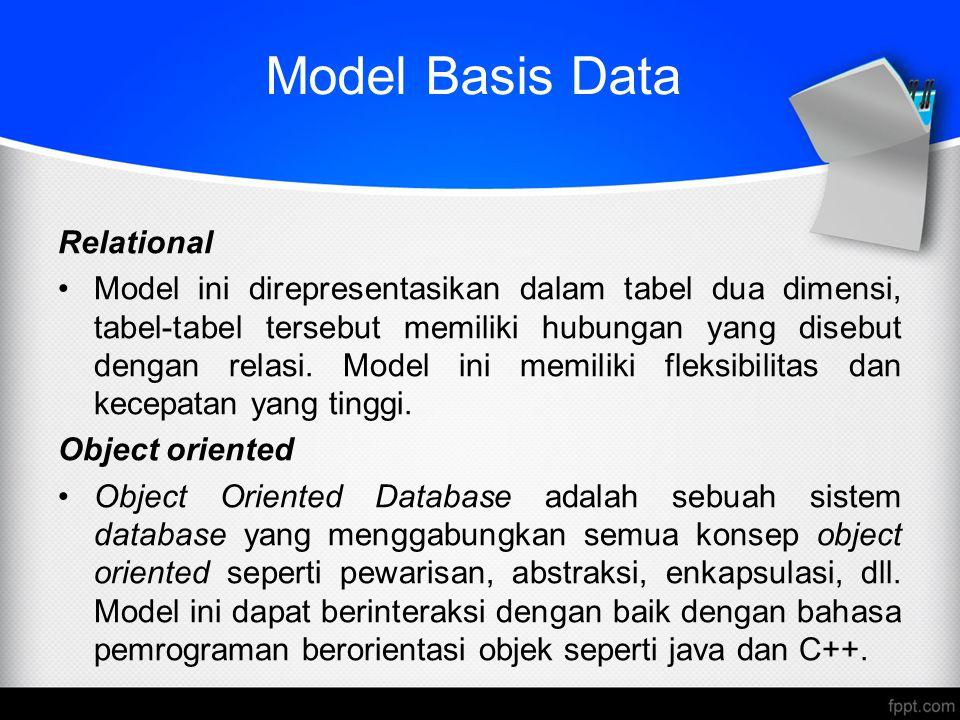 Model Basis Data Relational