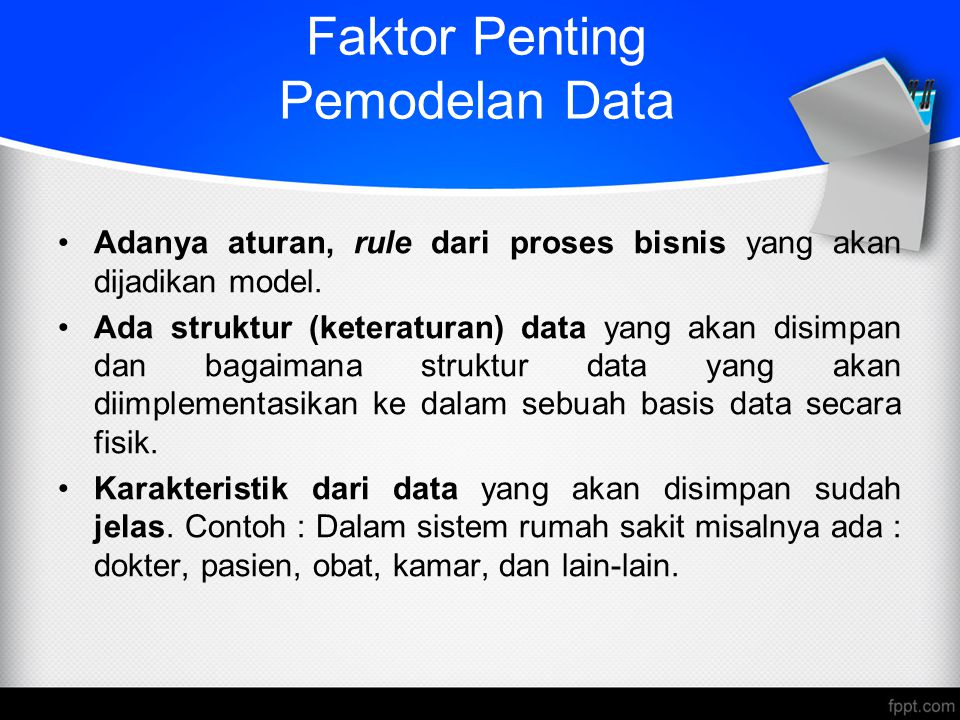 Faktor Penting Pemodelan Data