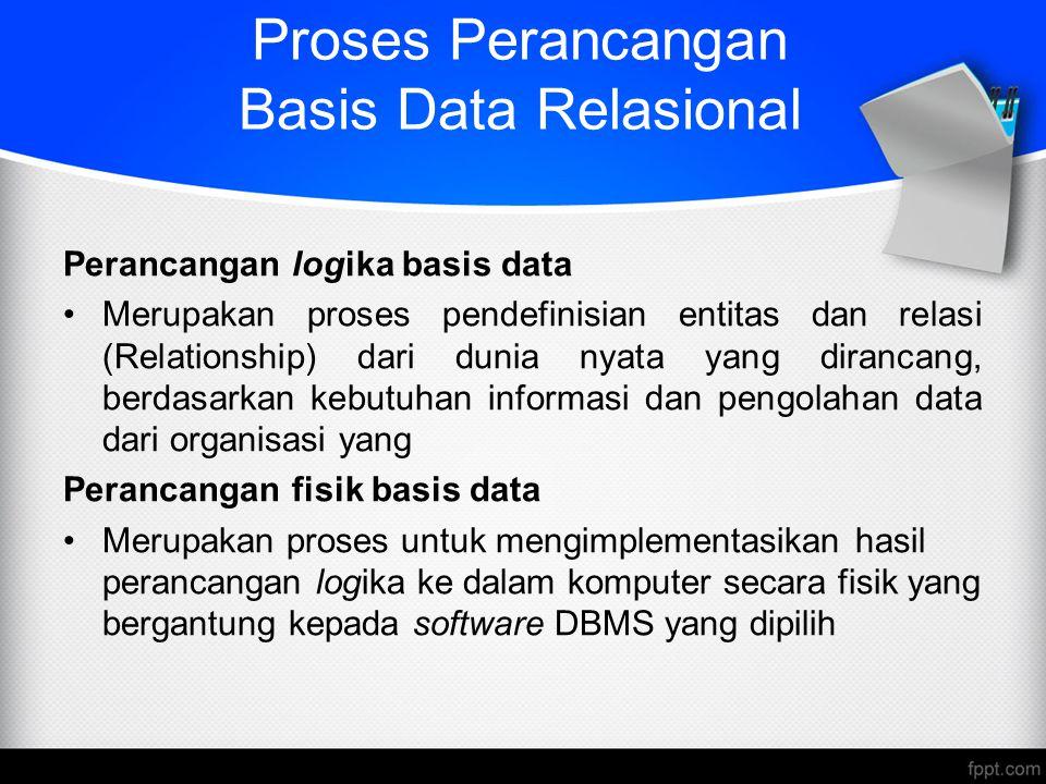 Proses Perancangan Basis Data Relasional