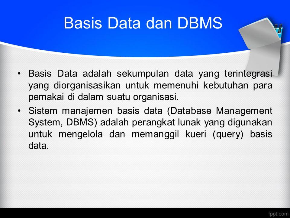 Basis Data dan DBMS