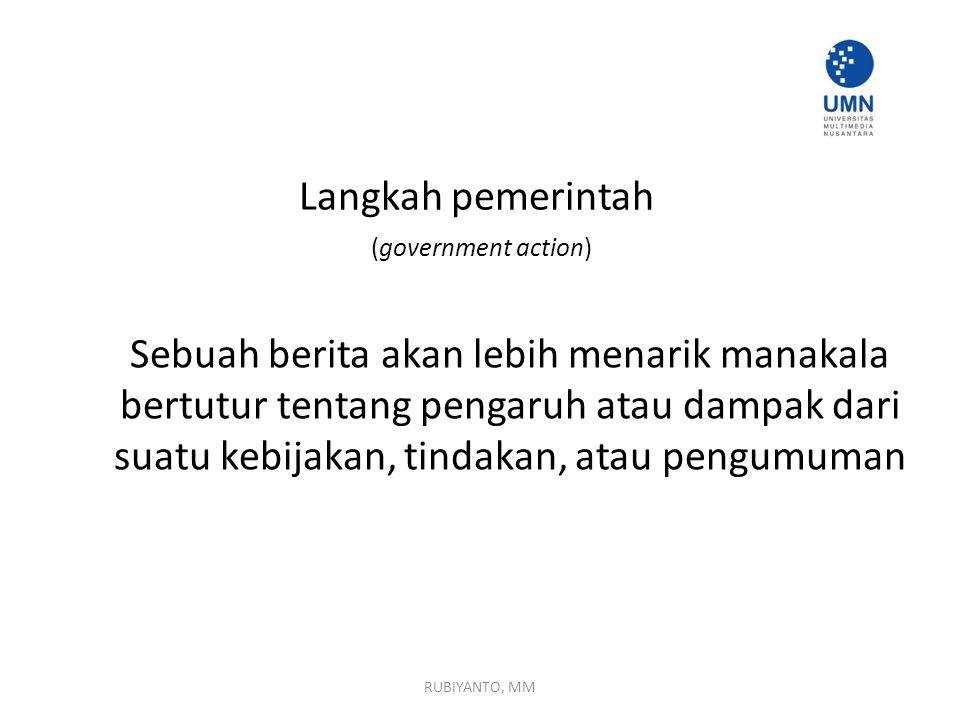 Langkah pemerintah (government action)