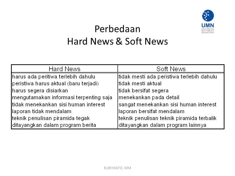 Perbedaan Hard News & Soft News