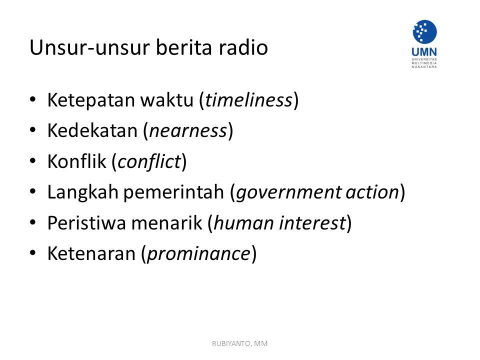 Unsur-unsur berita radio