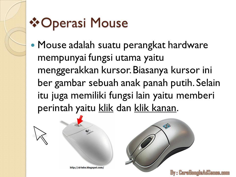 Operasi Mouse
