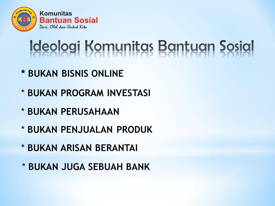 Ideologi Komunitas Bantuan Sosial