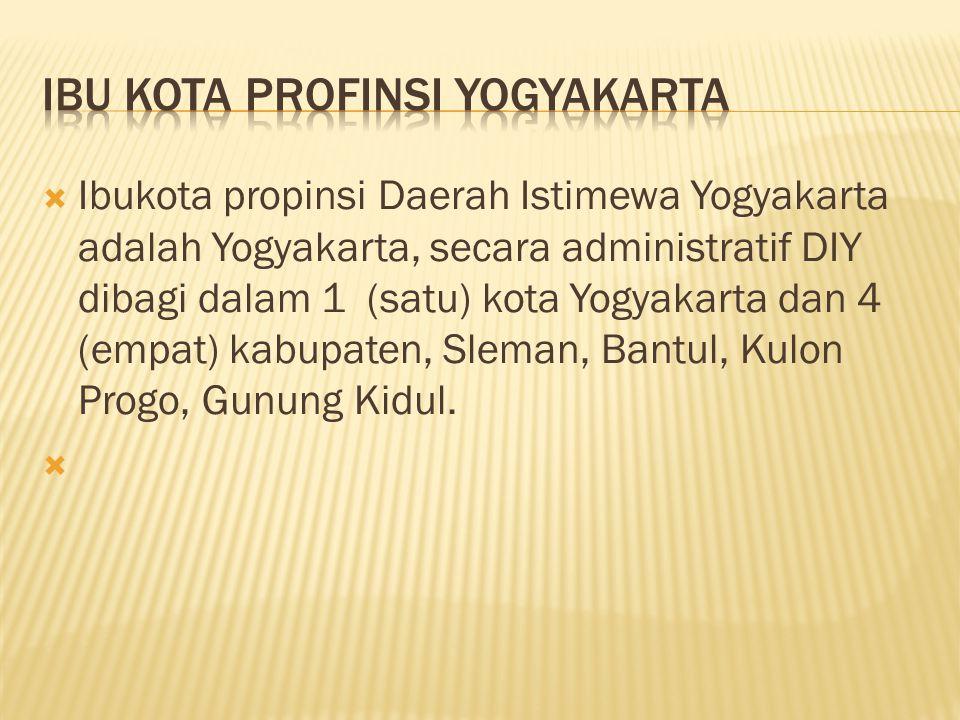 Ibu kota profinsi yogyakarta