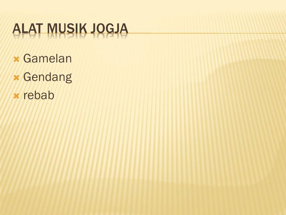 Alat musik jogja Gamelan Gendang rebab