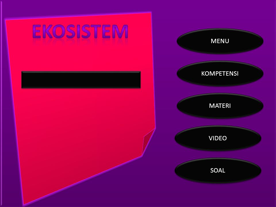 ekosistem MENU KOMPETENSI MATERI VIDEO SOAL
