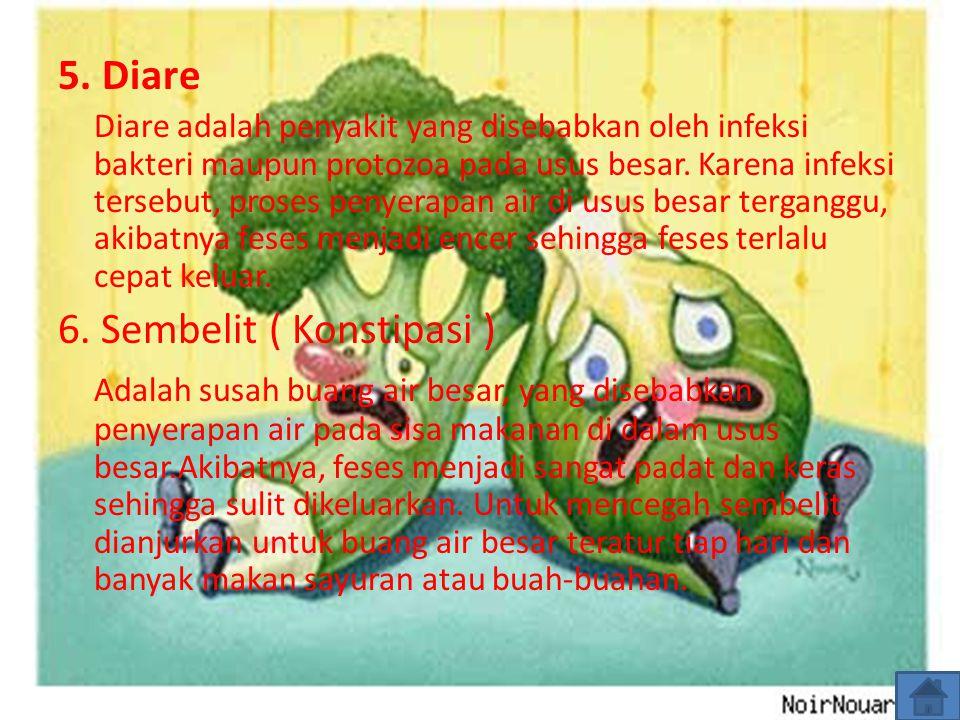 6. Sembelit ( Konstipasi )