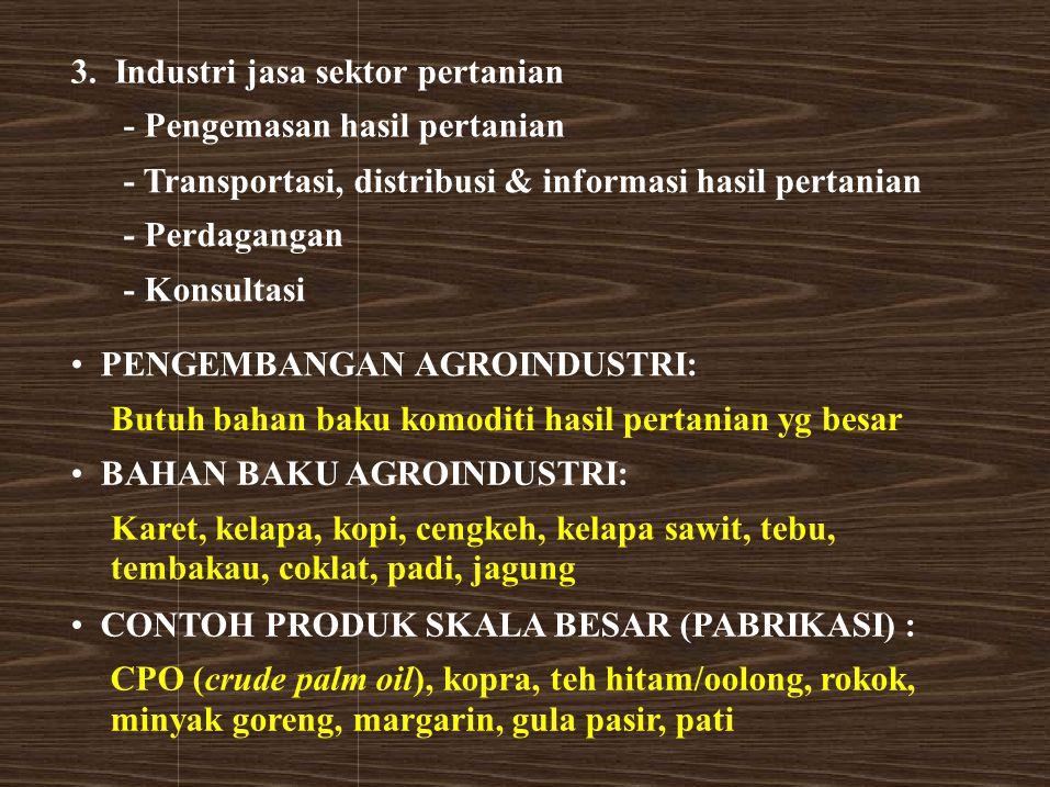 3. Industri jasa sektor pertanian