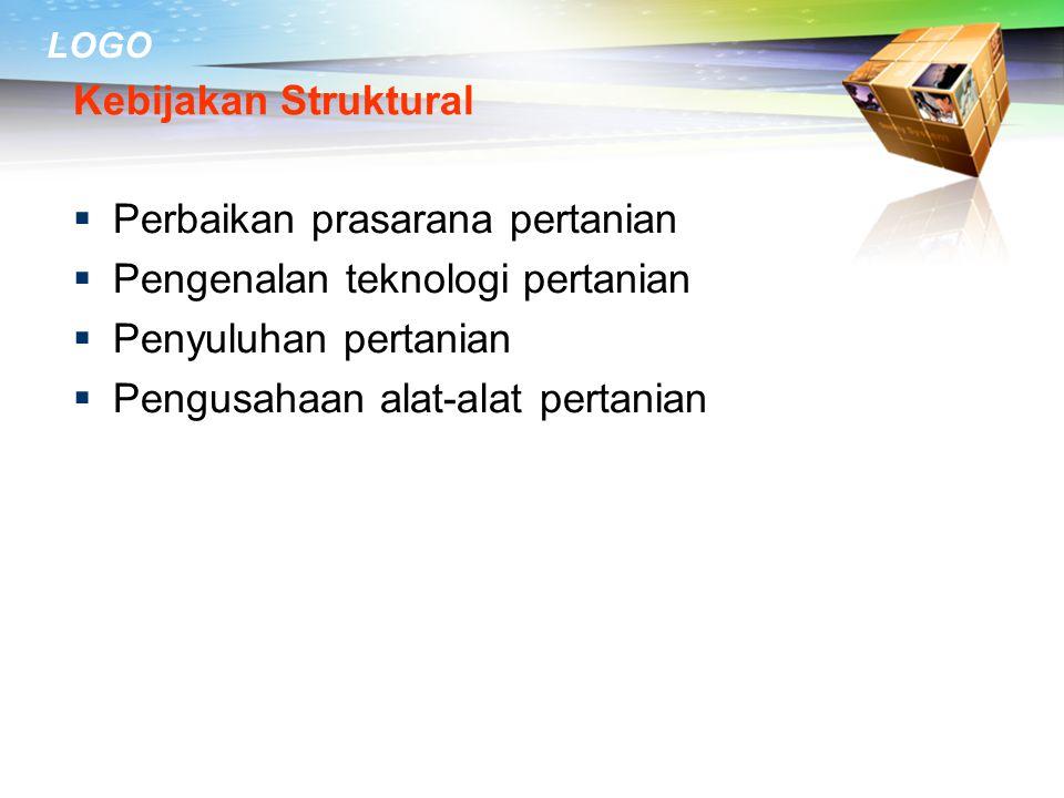 Kebijakan Struktural Perbaikan prasarana pertanian. Pengenalan teknologi pertanian. Penyuluhan pertanian.