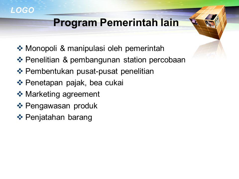 Program Pemerintah lain