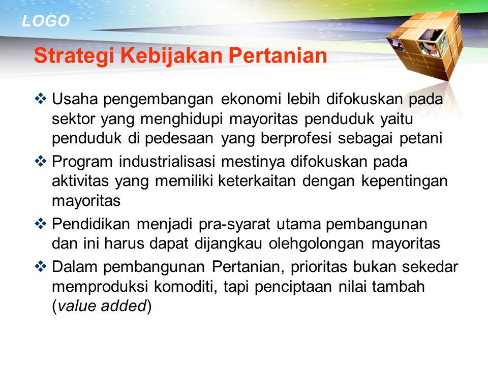 Strategi Kebijakan Pertanian