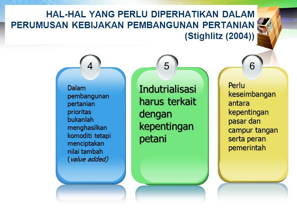 Indutrialisasi harus terkait dengan kepentingan petani