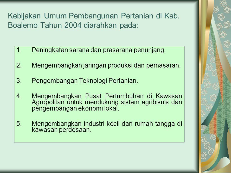 Kebijakan Umum Pembangunan Pertanian di Kab