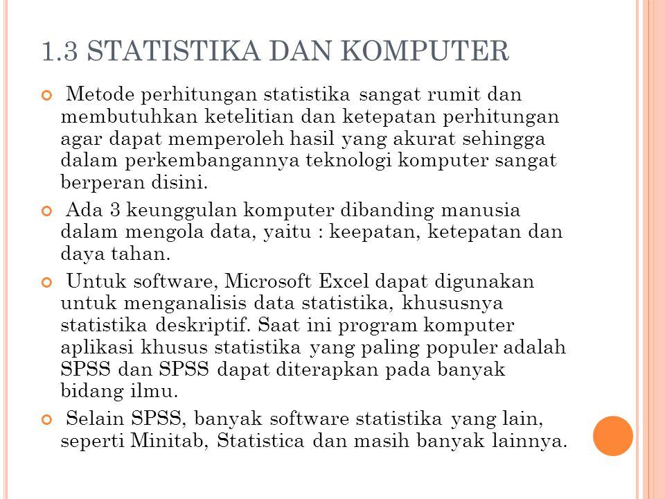 1.3 STATISTIKA DAN KOMPUTER