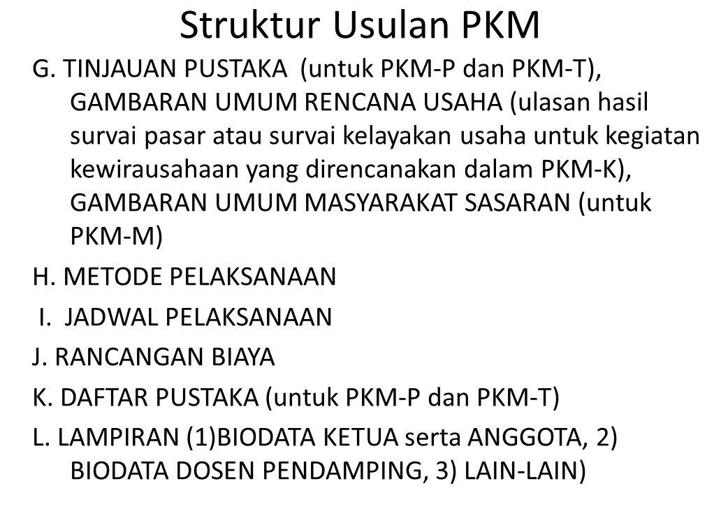 Struktur Usulan PKM