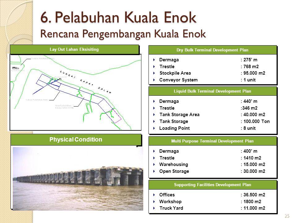 6. Pelabuhan Kuala Enok Rencana Pengembangan Kuala Enok