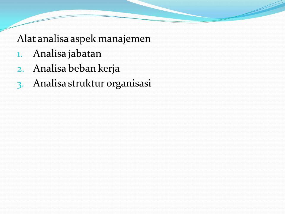 Alat analisa aspek manajemen