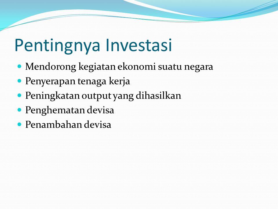 Pentingnya Investasi Mendorong kegiatan ekonomi suatu negara