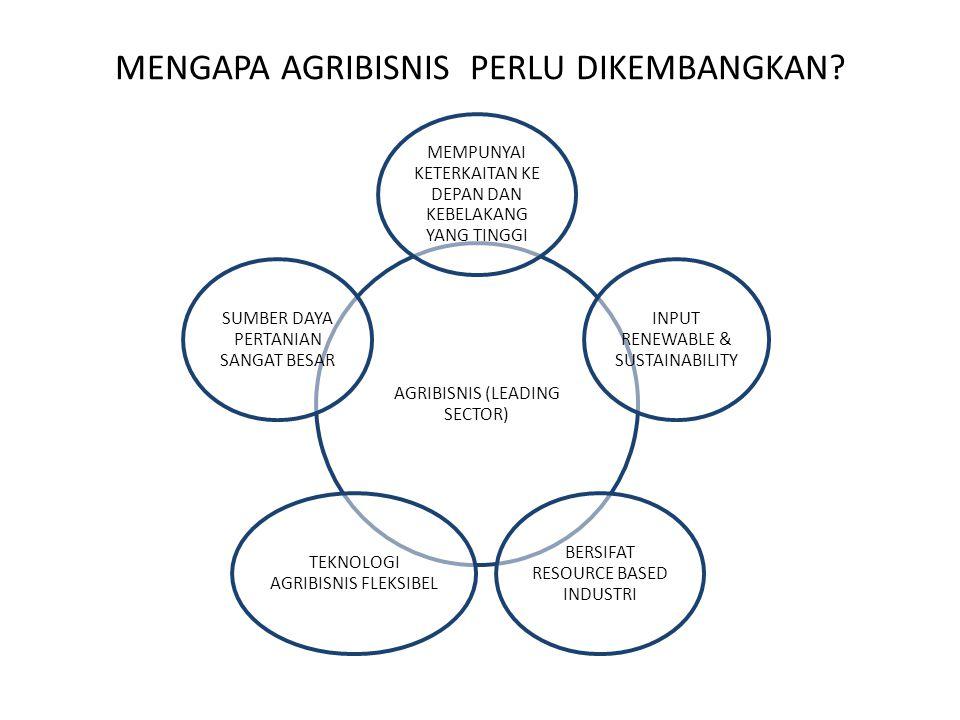 MENGAPA AGRIBISNIS PERLU DIKEMBANGKAN