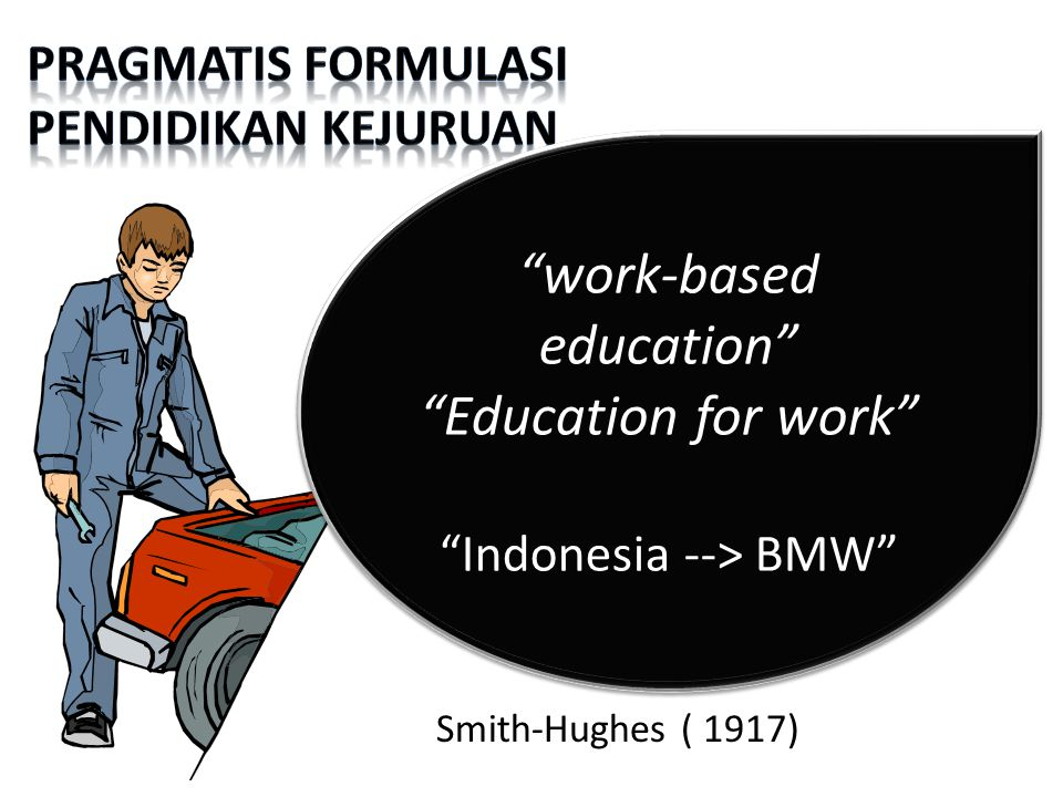 work-based education Education for work