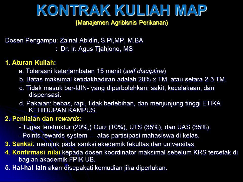 KONTRAK KULIAH MAP (Manajemen Agribisnis Perikanan)