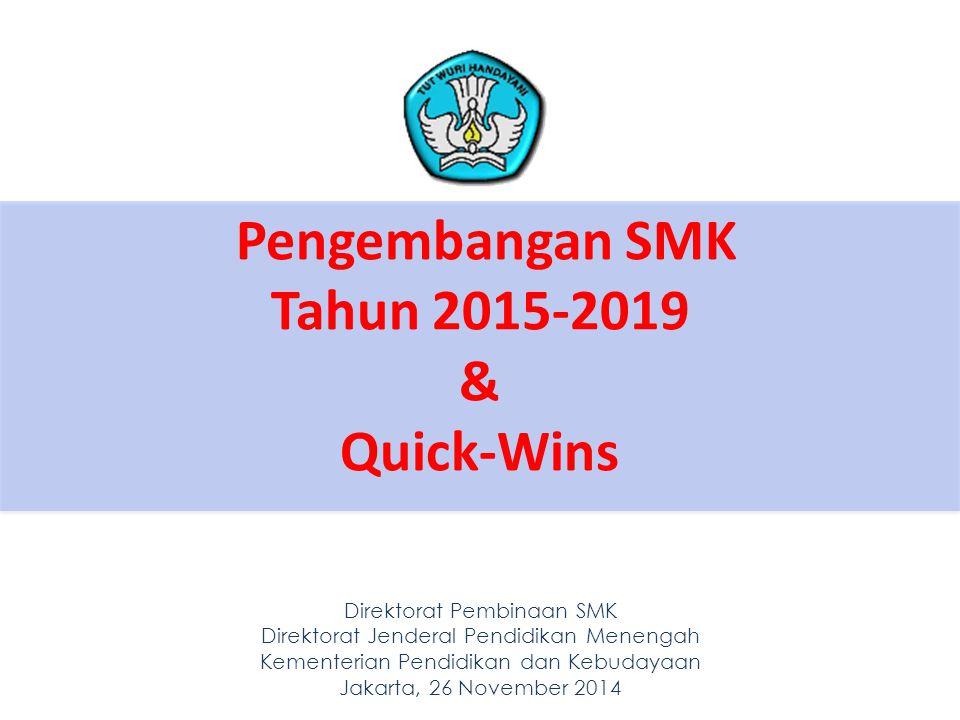 Pengembangan SMK Tahun 2015-2019 & Quick-Wins