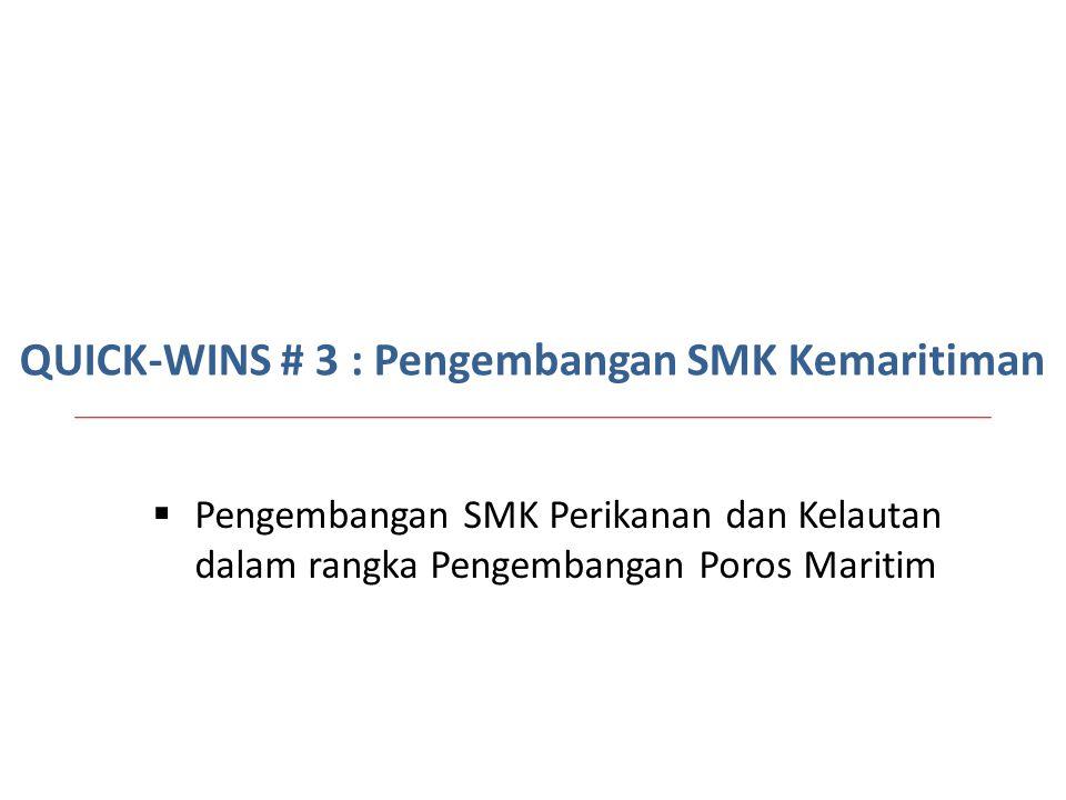 QUICK-WINS # 3 : Pengembangan SMK Kemaritiman